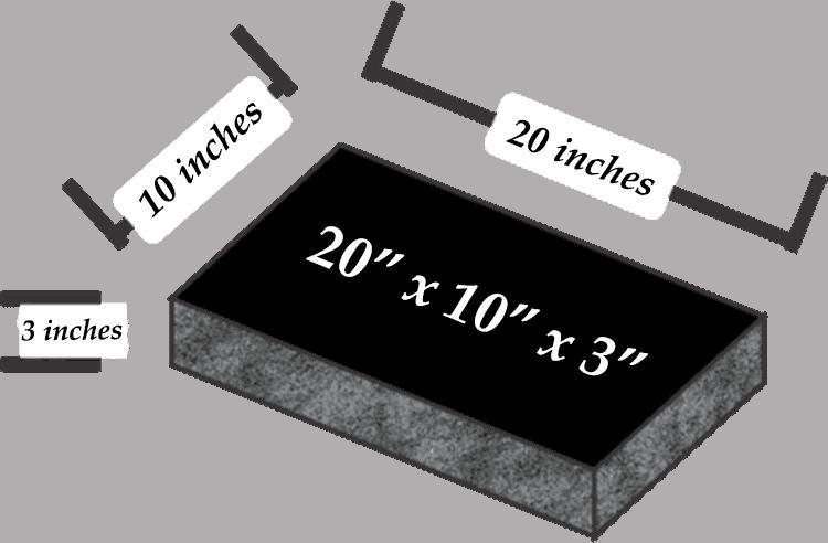 20 x 10 x 3