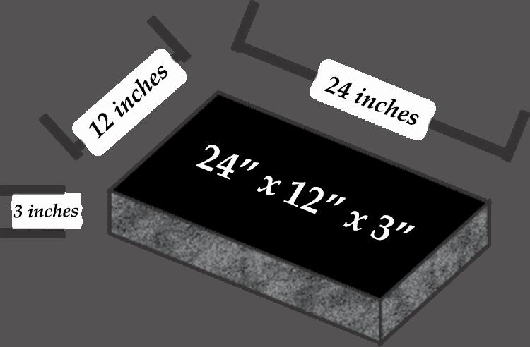 24 x 12 x 3
