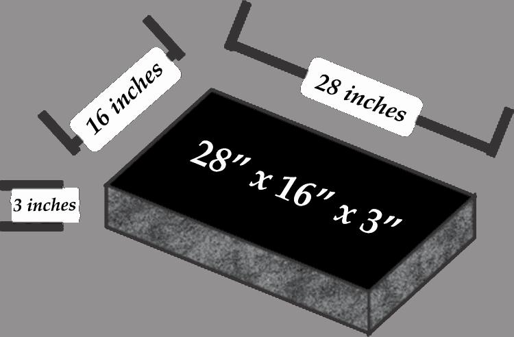 28 x 16 x 3